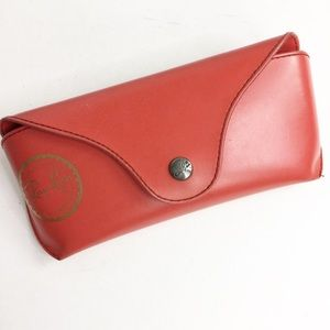 Luxotica Ray-Ban Red Glasses Case